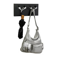 Adesso WK1115-01 Branch 16 inch Black/Chrome Double Wall Hook alternative photo thumbnail