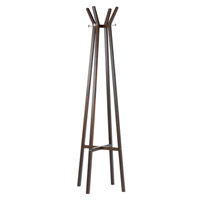 Adesso Summit Coat Rack in Walnut WK2013-15