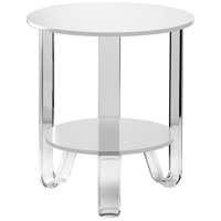 Jordan 22 X 19 inch White Accent Table