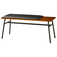Adesso WK2079-15 Carter Walnut and Matte Black Bench