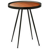 Baldwin 22 X 18 inch Walnut and Matte Black End Table