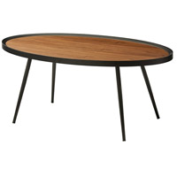 Baldwin 40 X 17 inch Walnut and Matte Black Coffee Table