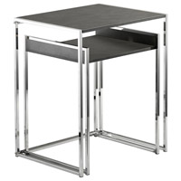 Ryder 23 X 19 inch Grey and Chrome Nesting Tables, Set of 2