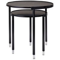 Blaine 22 X 20 inch Black with Acrylic Accents Nesting Tables
