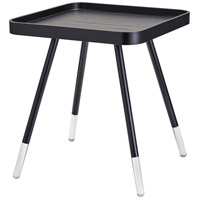 Blaine 21 X 19 inch Black with Acrylic Accents End Table