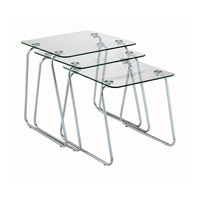 Adesso Slice Nesting Table in Chrome/Glass WK2130-22
