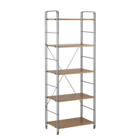 Adesso Joy 5 Shelf in Steel/Maple WK2303-22