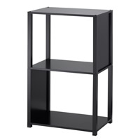 Adesso Hyde Three Tier Shelf Unit in Black WK2323-01