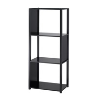 Adesso Hyde Four Tier Shelf Unit in Black WK2324-01 photo thumbnail