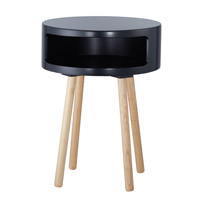 Adesso Collins Accent Table in Black WK2338-01 photo thumbnail