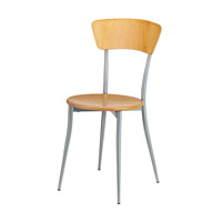Adesso Cafe Chair in Natural Wood/Steel WK2843-12