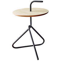 Elroy 15 inch Black Powder Coated Steel Accent Table Home Decor