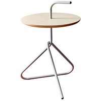 Elroy 15 inch Silver Powder Coated Steel Accent Table Home Decor