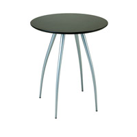 Adesso Cafe Bistro Table in Black/Steel WK2880-01 photo thumbnail