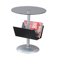 Adesso Sutton Magazine Table in Black WK2966-01