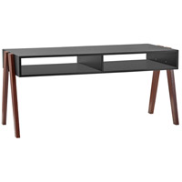 Laurel 41 X 19 inch Black and Walnut Oak Coffee Table