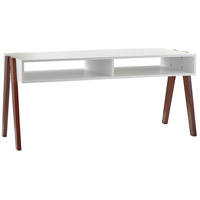 Laurel 41 X 19 inch White and Walnut Oak Coffee Table
