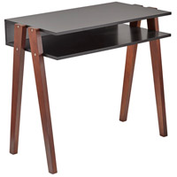 Laurel 34 inch Black and Walnut Pine Desk