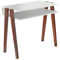 Laurel 34 inch White and Walnut Pine Desk