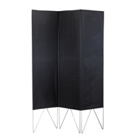 Adesso Vector Folding Screen in Black WK3800-01 photo thumbnail