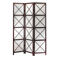 Adesso Apex Folding Screen in Dark Walnut WK3802-15