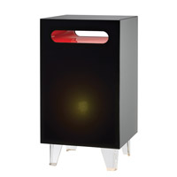 Adesso Nebula 1 Light Tall Light Table in Black WK4041-01