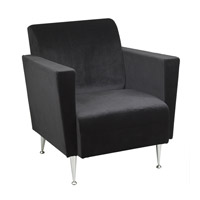 Adesso Memphis Velvet Club Chair in Black WK4221-01