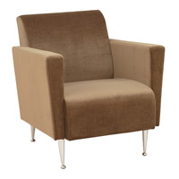 Adesso Memphis Velvet Club Chair in Olive Brown WK4221-33