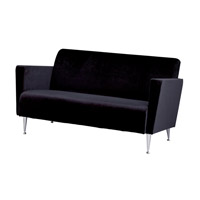 Adesso Memphis Sofa in Black WK4225-01 photo thumbnail