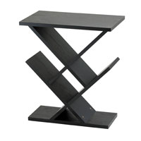 Adesso WK4614-01 Zig Zag 12 inch Black Accent Table