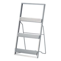 Adesso Editor Magazine Rack in Painted Steel WK7807-22 photo thumbnail