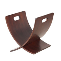 Adesso Zurich Magazine Rack in Walnut WK7814-15