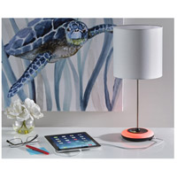 Adesso SL4905 01 Mia 19 inch 40 watt Brushed Steel Color Changing Table Lamp Portable Light, Simplee Adesso