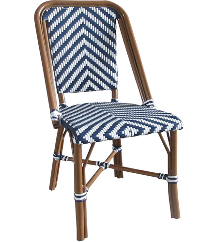 Aspen Brands Nwcbc French Cafe Navy And White Outdoor Bistro Chair Commercial Grade Photo