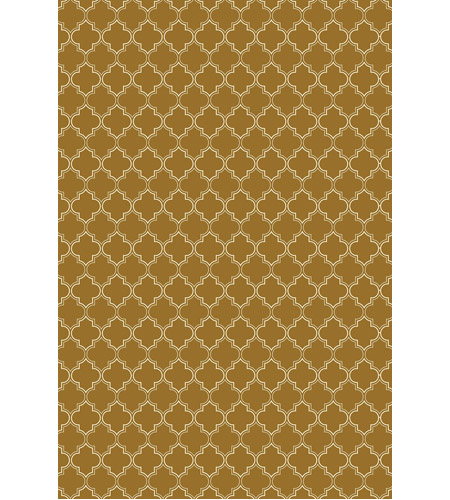 Aspen Brands RUG10BRN57 Quaterfoil 84 X 60 inch Brown and White Outdoor Rug photo