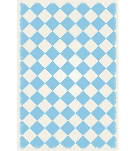 Aspen Brands Rug6lb46 Diamond 72 X 48 Inch Light Blue And White
