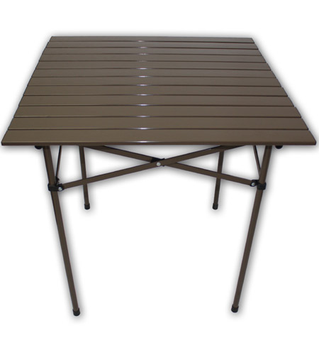 Aspen Brands TA2727 Table In A Bag 27 X 27 Inch Brown Tall Portable Table,