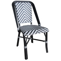 French Cafe White and Black Outdoor Bistro Chair, Commercial-Grade