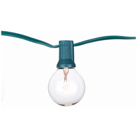 Global 10 Light 11 foot Green Outdoor Party String Lights, Bulbs Not Included