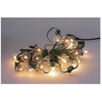 Global 25 Light 25 foot Green Outdoor Party String Lights in Clear
