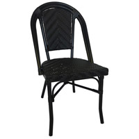 French Cafe Black Outdoor Bistro Chair, Commercial-Grade