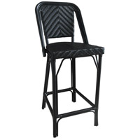 Cafe Black Outdoor Bistro Bar Chair, Commercial-Grade