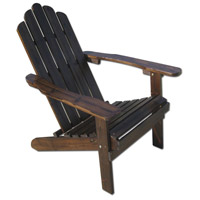 Non-Folding Wood Charcoal Adirondack Chair