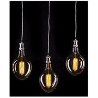 Hardwired 3 Light 13 inch Nickel Multi Drop Ceiling Light, Bulbs Not Included