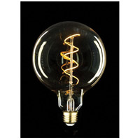 Global Swirl Amber Vintage Oversized LED Bulb, Midsize