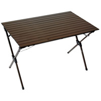 Table in a Bag 43 X 27 inch Brown Portable Picnic Table, Lightweight, Folding