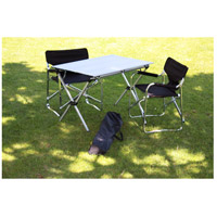 Table in a Bag 43 X 27 inch Green Portable Picnic Table, Lightweight, Folding