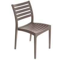 Restaurant Cafe Stackable Brown Outdoor Bistro Chair, Commercial-Grade