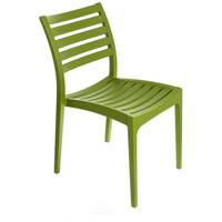 Restaurant Cafe Stackable Green Outdoor Bistro Chair, Commercial-Grade