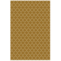 Quaterfoil 84 X 60 inch Brown and White Outdoor Rug